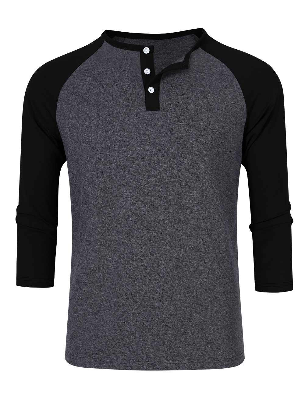One part henley, one part 3/4 sleeve baseball tee, this All-Star features a three button collar and contrast sleeve stripes to carry you through every on and off the field .
