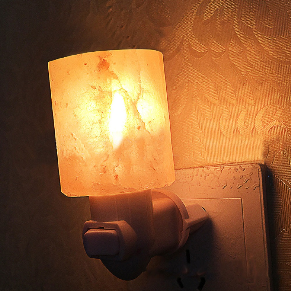 Salt Lamps Night Lights : 15W Natural Crystal Salt Lamp Himalayan Glow Hand Healthy Night Light US Plug eBay