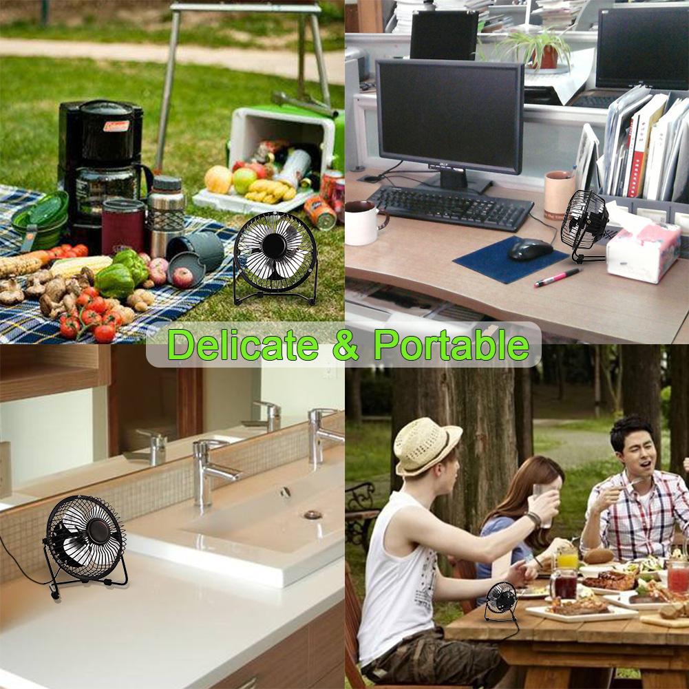 US 4inch USB Desk Fan Mini Table Fan Small Personal Fan