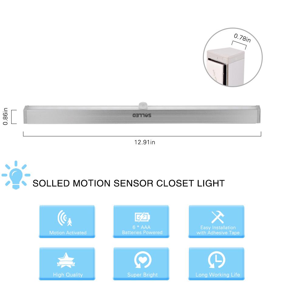 20leds portable wireless motion sensor closet under. Black Bedroom Furniture Sets. Home Design Ideas