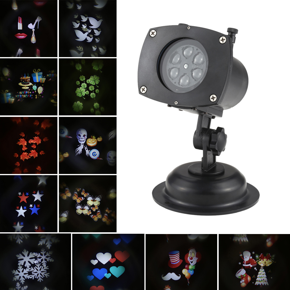 New 12pattern Led Landscape Lamp Projector Lawn Light
