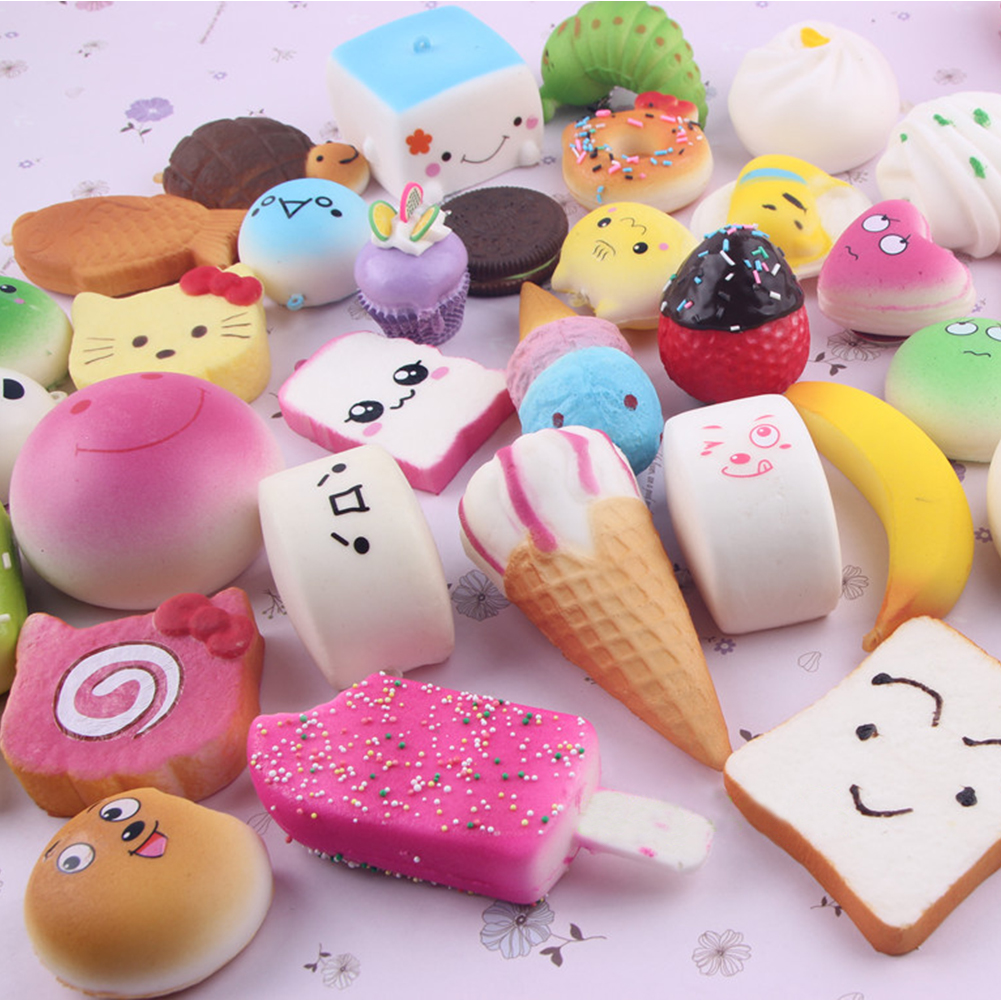 Squishy Mini Bun : 20pcs Kawaii Mini Random Soft Squishy Doughnut Panda/Bread/Cake/Buns Phone Strap eBay