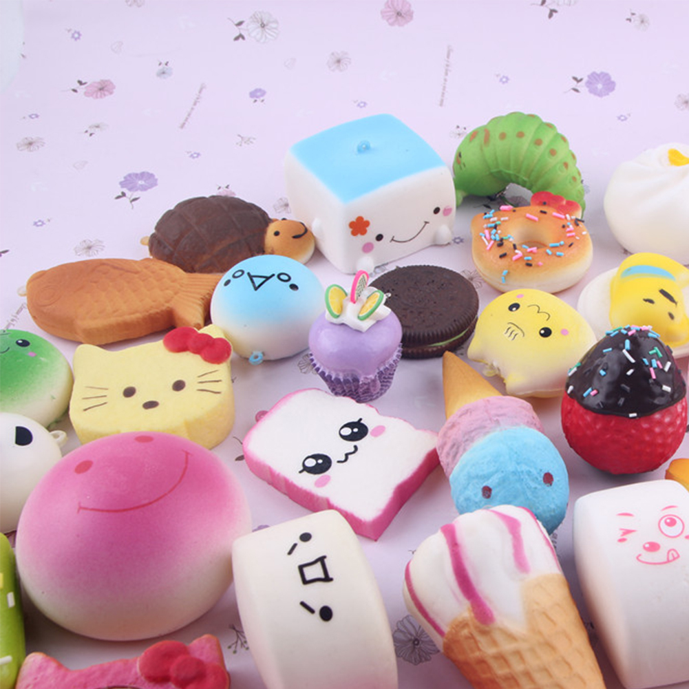 20pcs Kawaii Mini Random Soft Squishy Doughnut Panda/Bread/Cake/Buns Phone Strap eBay
