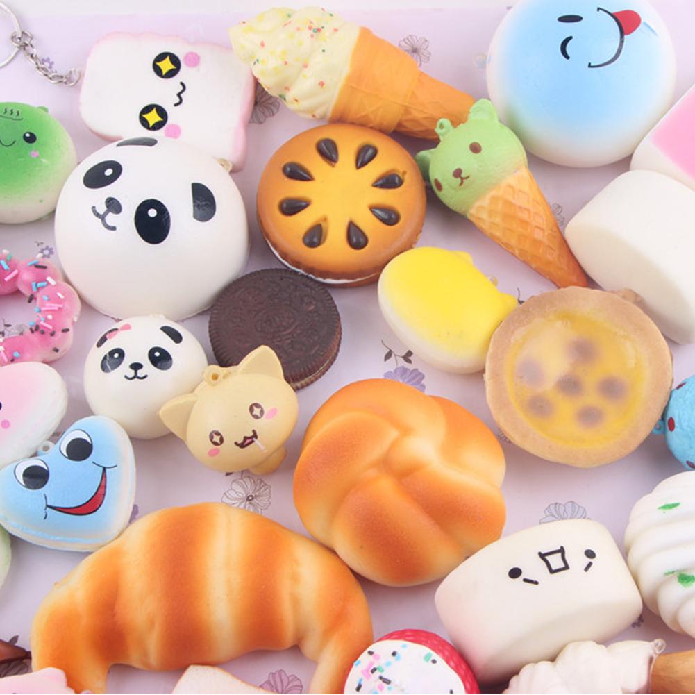 Squishy Mushy Panda : 20pcs Kawaii Mini Random Soft Squishy Doughnut Panda/Bread/Cake/Buns Phone Strap eBay