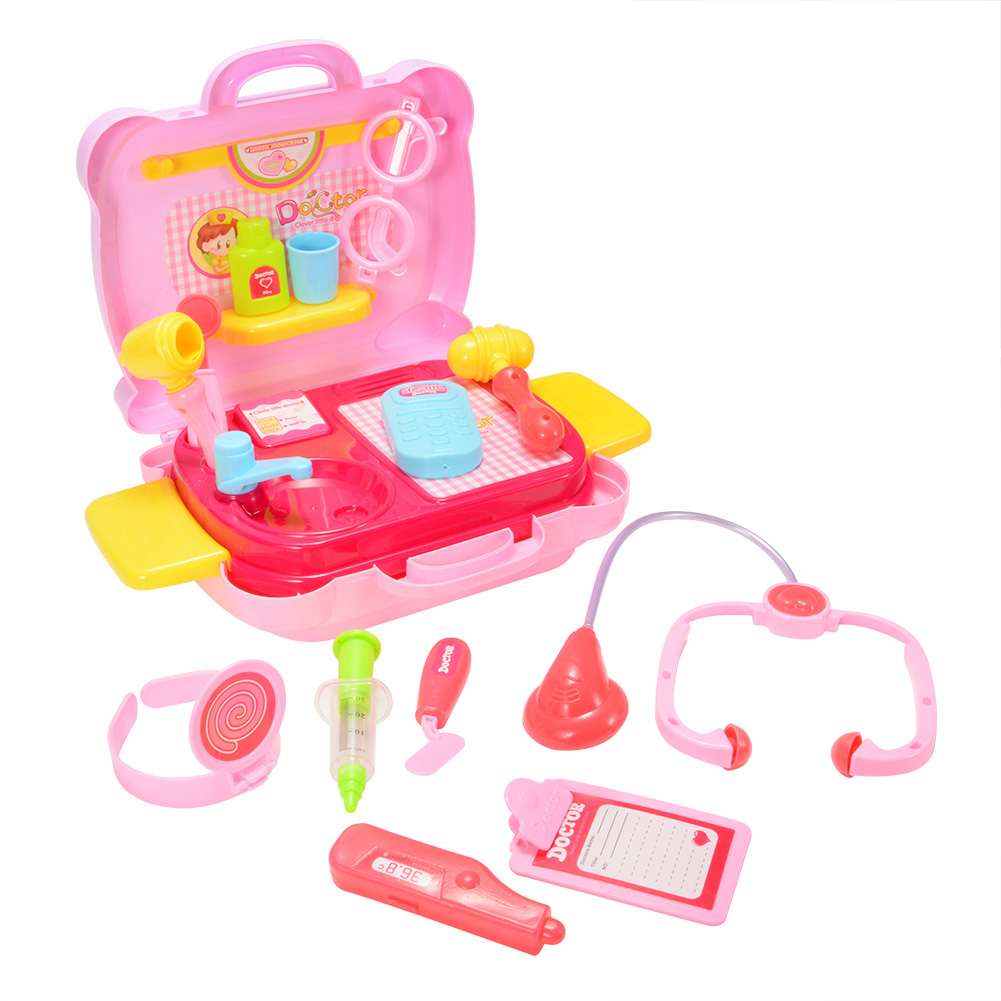 Toy Tool Kits For Girls : Cute kids girl doctor nurse medical box kit tool play set