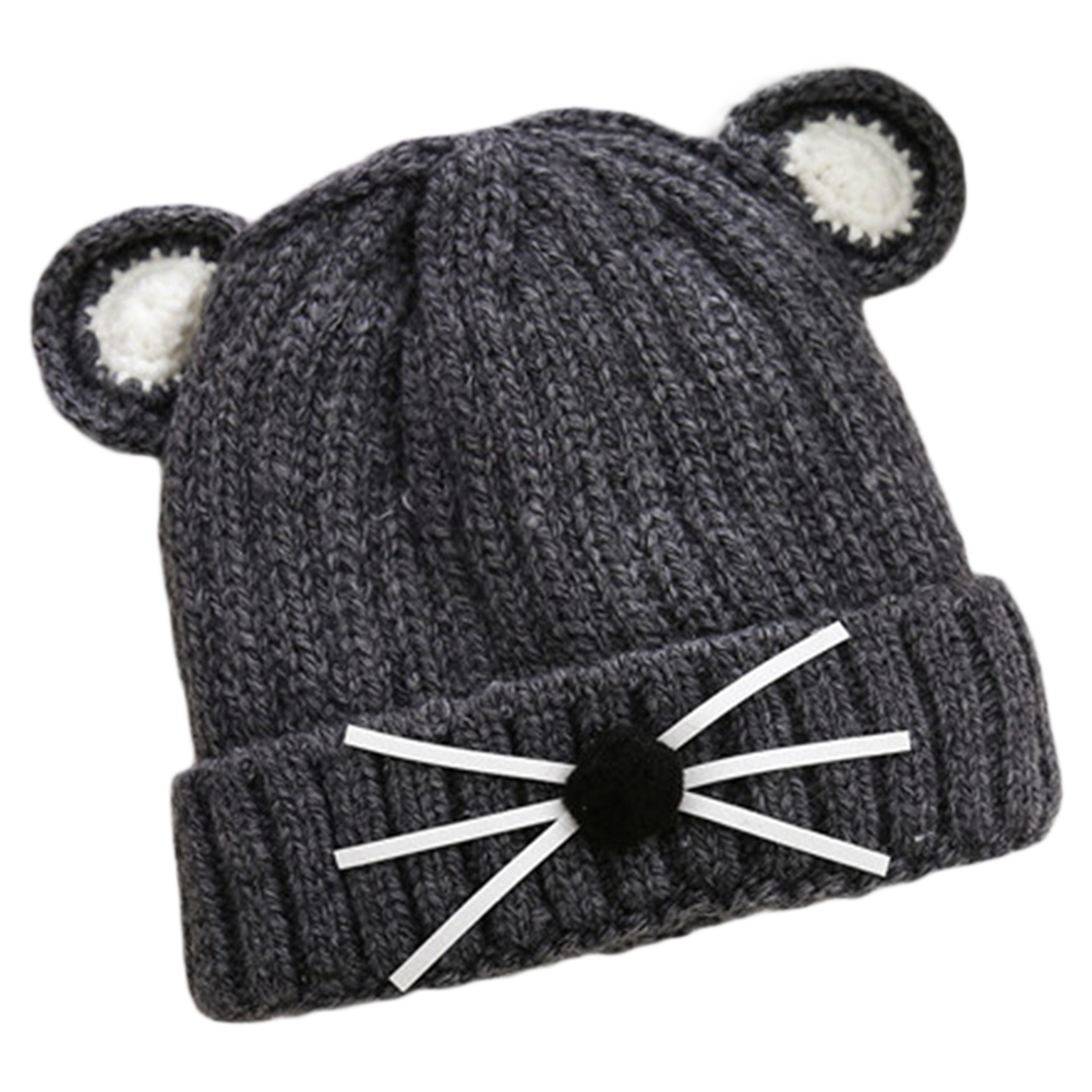 21fce035d4e Winter Warm Knitted Hat Cute Cat Beanie Cap for Baby Kids Boys Girls ...