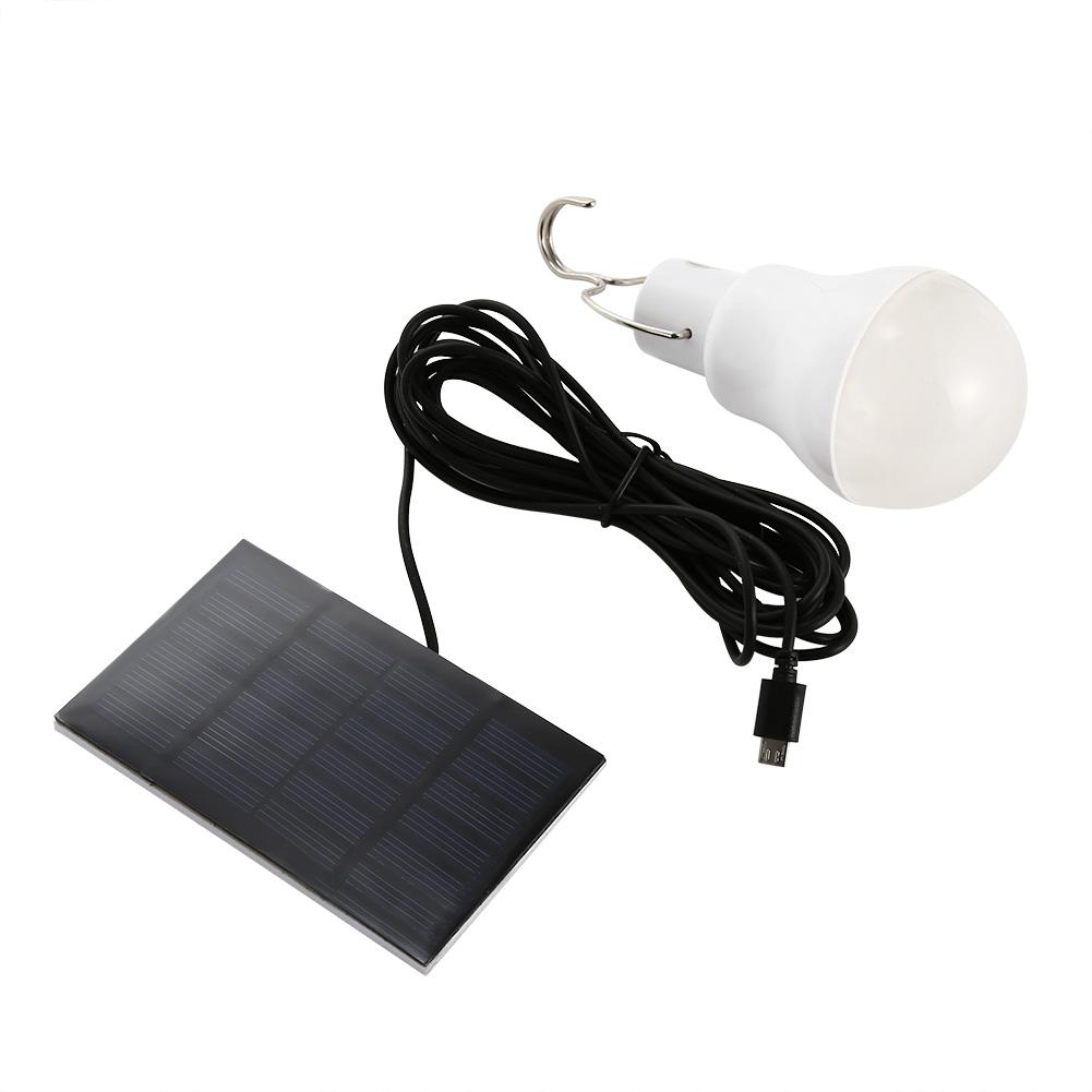 5v solar power led ball gl hbirne wiederaufladbare camping. Black Bedroom Furniture Sets. Home Design Ideas