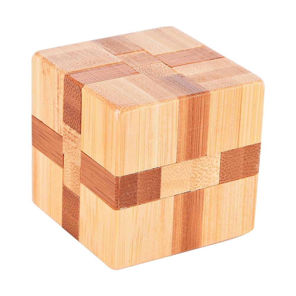 Emorefun秦バンブーマジックキューブロックロジックパズルバーパズルブレインティーザー知的な取り外しアセンブリ玩具